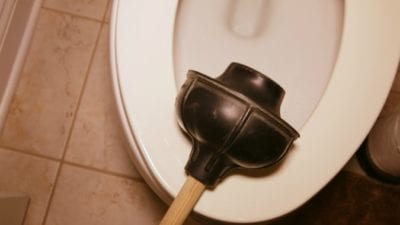 CLeaning Mistakes, Rinsing Plunger