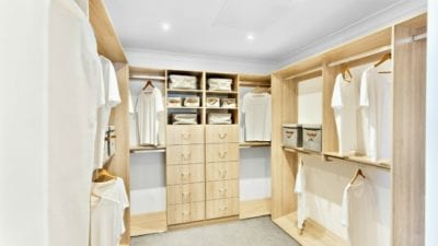Clean Space, Clean Thoughts includes clean closet