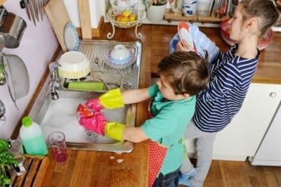 Cleaning Mistakes Not Getting Kids to Wash Dishes