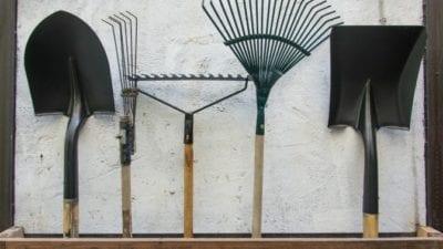 Garage Cleaning - garden tools