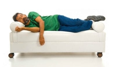 Protect Your Brand, house cleaner guy asleep on clients couch