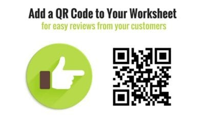 QR Code for customer ratings and reviews