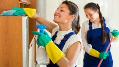 employees Who Love to clean houses, happy maids clean