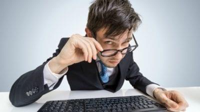 Business License suspicious man