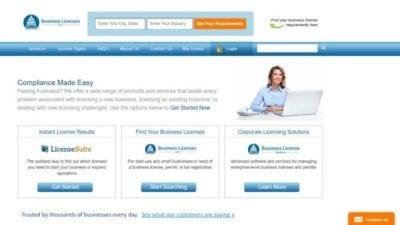 Business License website
