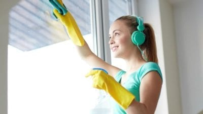 Chatty Cathy, Woman Cleaning Wearing Headphone