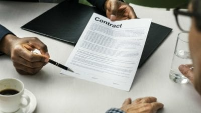 It's Official explaining contract