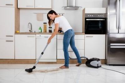 Separate Vacuums, House Cleaner Vacuuming