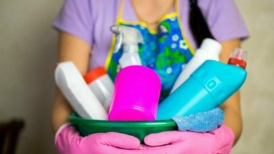 Target Your Market cleaning caddy