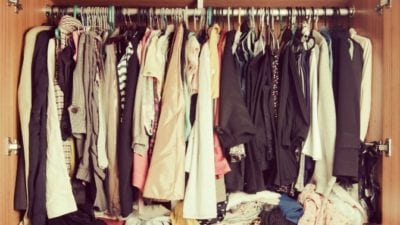organizing vs. house cleaning closet full of clothes