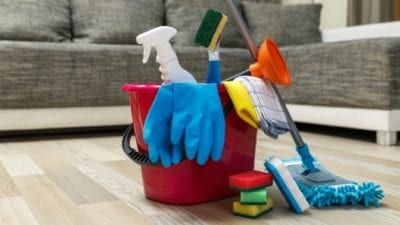 start a house cleaning company cleaning supplies