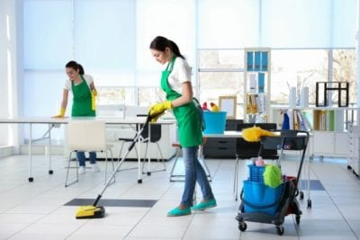 Cleaning Employee Ad, Uniformed Employees cleaning