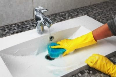 They Only Want You, House Cleaner washes Sink