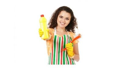 MLM's and House Cleaners, Woman Smiling Holding Cleaning Product
