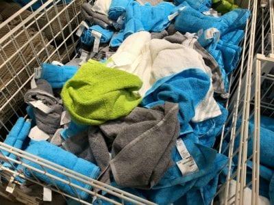 Microfiber Cloths, Shopping Cart Full of Microfiber Cloths