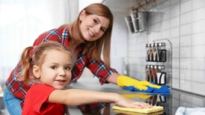 Teach Kids to Clean sensory learning