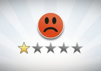 1 Star Review, Sad Face 1 Star Review