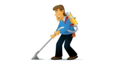 Backpack Vacuums, Man With Backpack Vacuum Cartoon