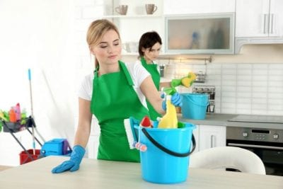 Incompatible Workers, Women Cleaning a House