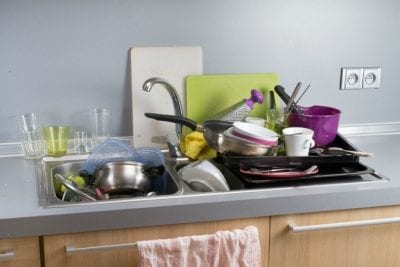 Menopause and House Cleaning, Dirty Dishes in Sink