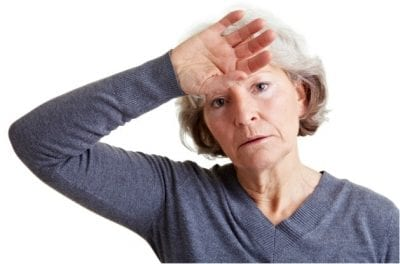 Menopause and House Cleaning, Woman With Hot Flash