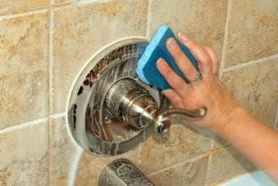 Sponges, Cleaning Shower With Sponge