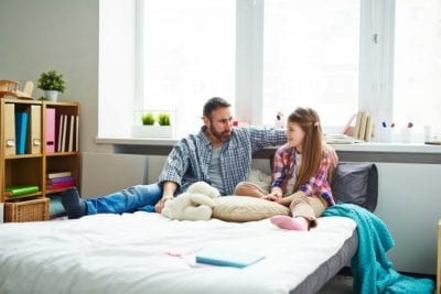 Get a Teenager to Clean Up, Dad and Daughter