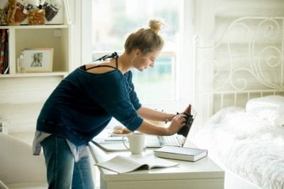 Get a Teenager to Clean Up, Girl Cleaning Her Laptop