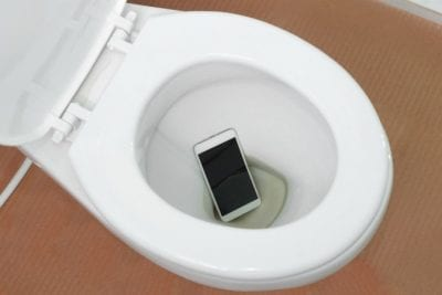 Get a Teenager to Clean Up, Phone in Toilet