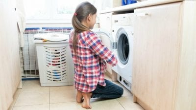 Get a Teenager to Clean Up, Teen Doing Her Laundry
