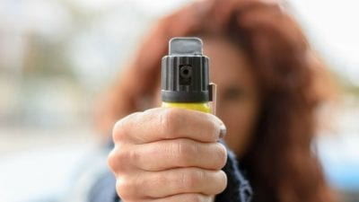 Hits on you, Woman threatens with pepper spray