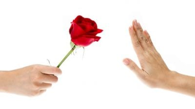 Hits on you offering roses and hand saying NO