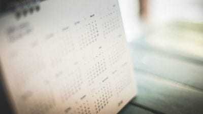 Religious Stereotypes calendar showing time of month for female