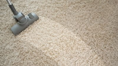Speed Cleaning Vacuum Style cleaned areas showing carpet lines