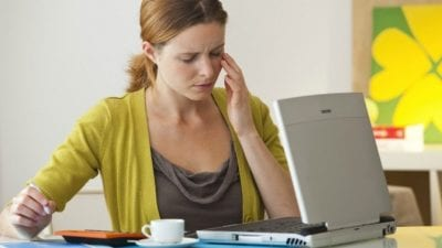 Startup Struggles Business woman stressed out