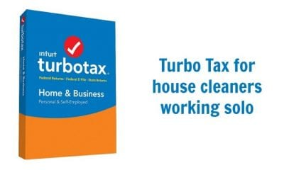 Turbo Tax for Business, Tax Tips for House Cleaners