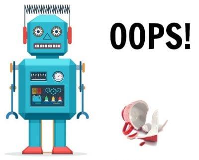 Who Pays When Stuff Breaks, Robot Broken Cup