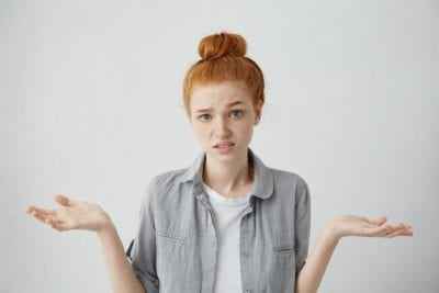 Who Pays When Stuff Breaks, Woman Making I Dont Know Gesture