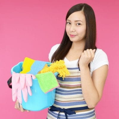 Challenges of Hiring Staff, Woman With Cleaning Supplies