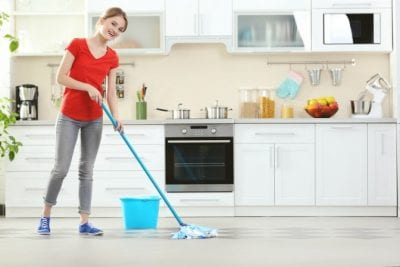 How Long Does it Take, House Cleaner Mopping