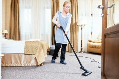 How Long Does it Take, House Cleaner Vacuuming Bedroom
