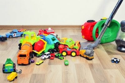How Long Does it Take, Trying to Vacuum, Toys on Floor
