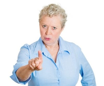 Over-Delivering, Woman Pointing Finger