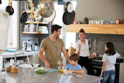 Questions to Ask on a Walkthrough, Family in Kitchen