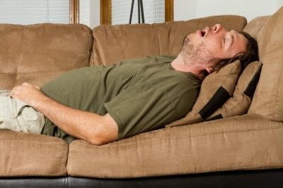 Questions to Ask on a Walkthrough, Man Sleeping on Couch