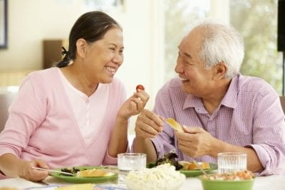 Questions to Ask on a Walkthrough, Mature Couple Eating Lunch