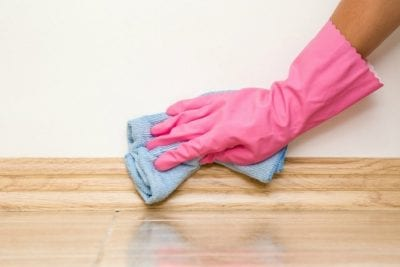 Questions to Ask on a Walkthrough, Wiping Baseboards