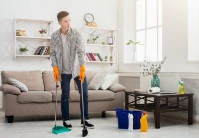 Same Day Walkthrough, Man Cleaning House