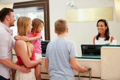 Savvy Perks, Family at Hotel Lobby