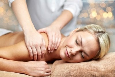 Savvy Perks, Woman Getting Massage
